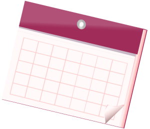 Stock image of blank calendar