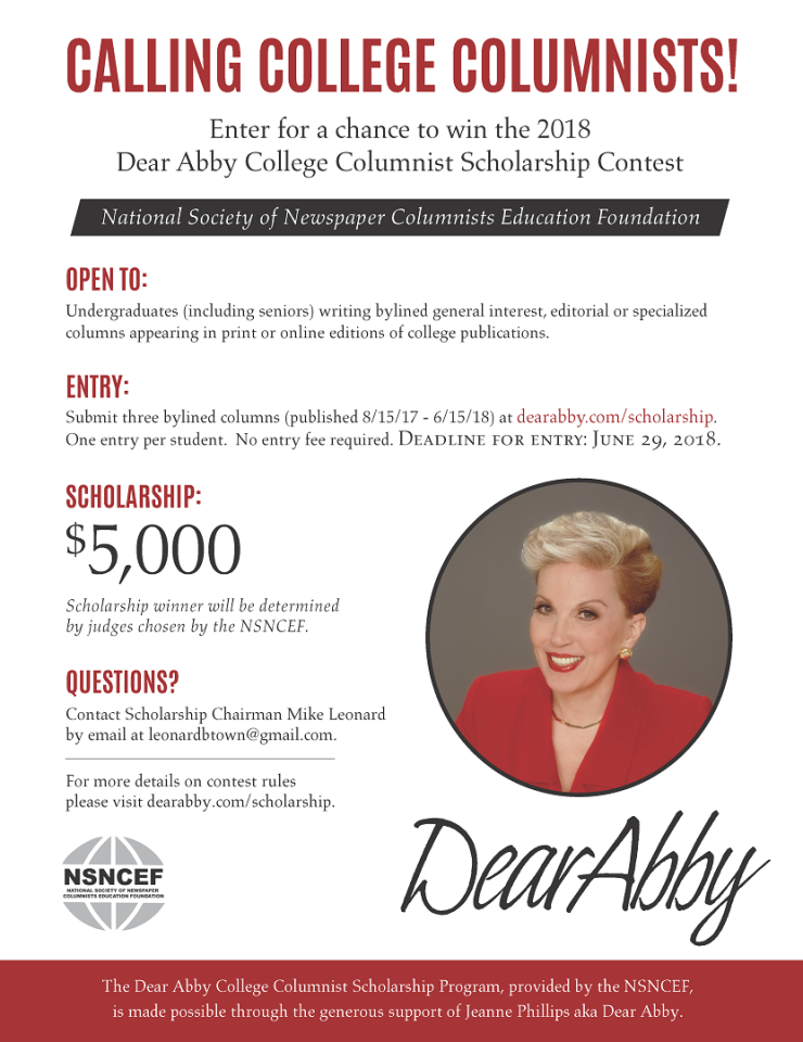 2018 NSNC Education Foundation contest flyer